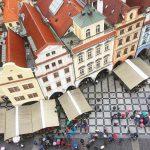 Uitzicht over Staroměstskě námĕstí