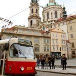 Nostalgische tram door Praag