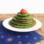 kerstboom pannenkoekjes met spinazie
