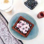 healthy wafels met zwarte bonen