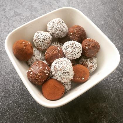 bliss balls dadels snack