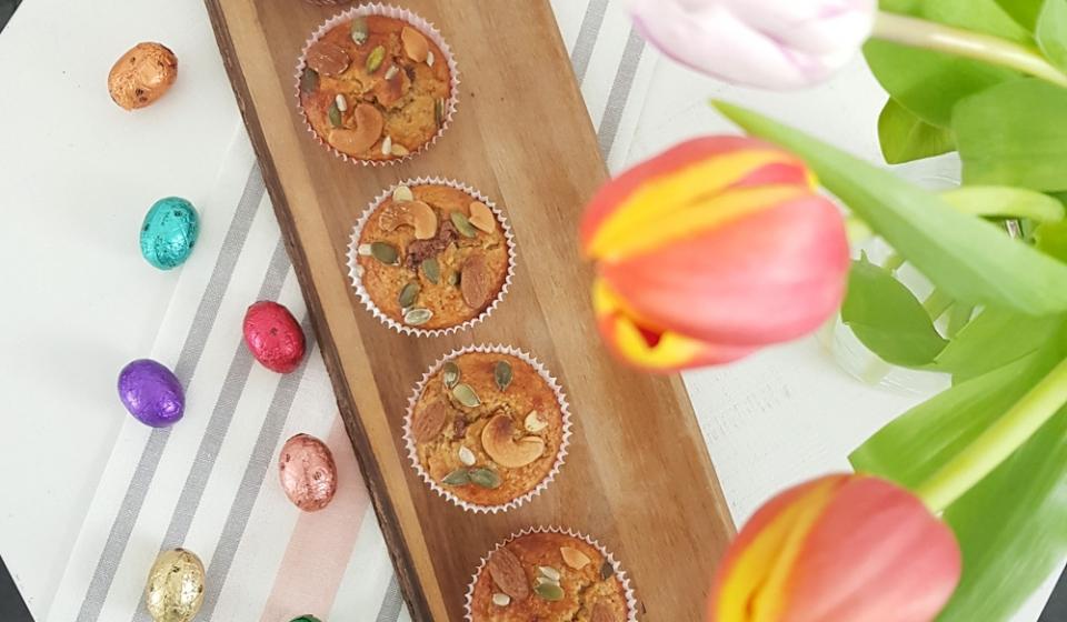 bananenbrood cupcakes met paasei