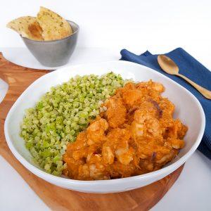 Pompoencurry met broccolirijst en naanbrood